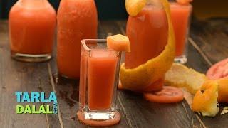 Tomato, Orange, Carrot and Papaya Juice ( Vitamin A and C) by Tarla Dalal