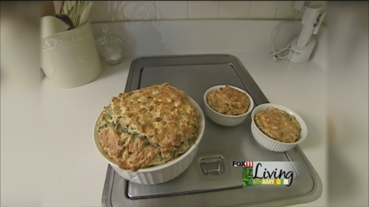 spinach cheese souffle - youtube