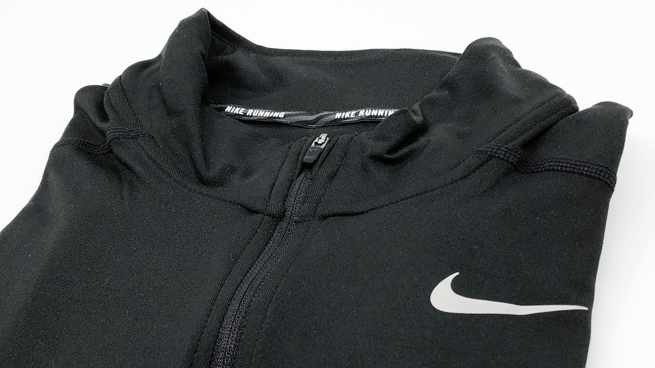 3bd1126403f13 Nike Men's Dri-Fit Element Half-Zip Running Shirt Black (904946-010)【4K】