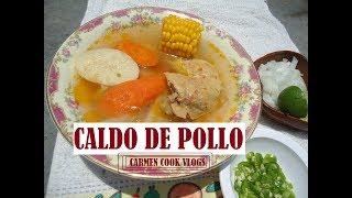 CALDO DE POLLO | Carmen Cook Vlogs