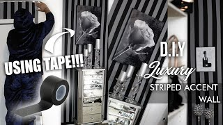 I'm Back !!! Luxury Accent Wall Using Duct Tape !!?? A Very Easy And Cheap Diy !!