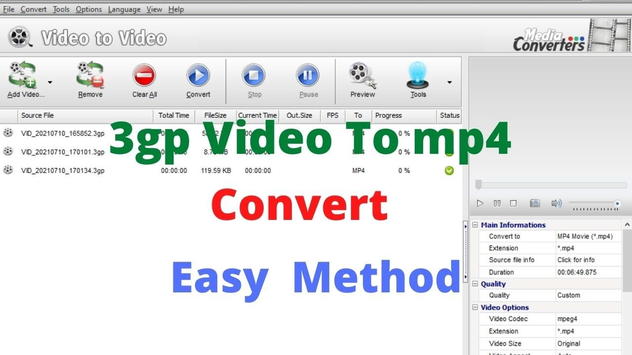 Download How to convert video 3gp to mp4 easy method. Bangla Tutorial.