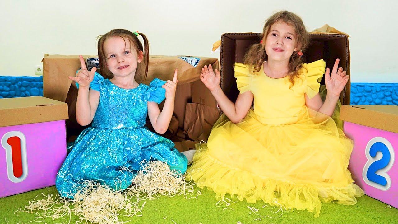 Cinq Enfants jouent et apprennent les chiffres