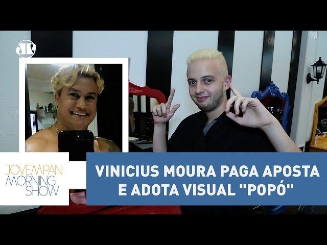 """Vinicius Moura paga aposta e adota visual """"Popó""""   Morning Show"""