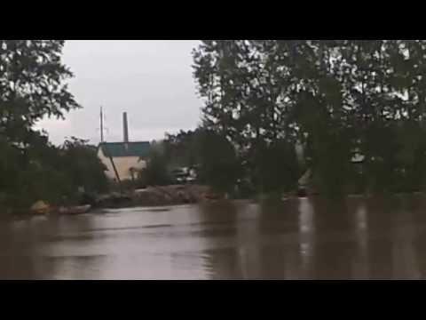 Наводнение после проливных дождей.1.08.2013 в Белорецке.