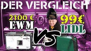 LIDL 99 € Fülldraht-Schweißgerät VS. Industrie! - Merkst du den Unterschied?