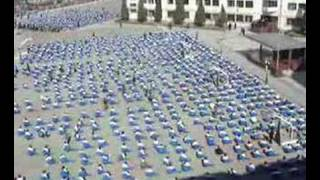 Stunning Morning Exercises at Chinese School