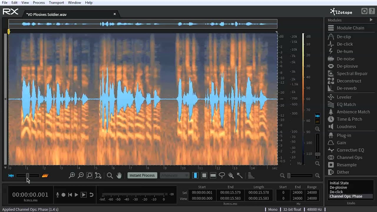 dialogue voiceover track editing in rx 5 advanced audio editor youtube