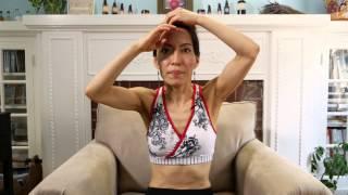 face yoga the binocular pose helps eliminate forehead wrinkles