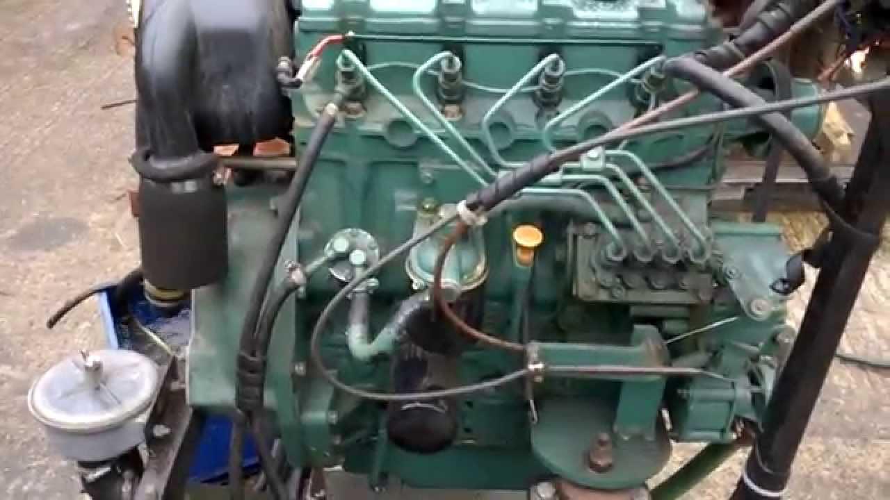 Volvo Penta D2 55a Marine Diesel Engine Test Youtube