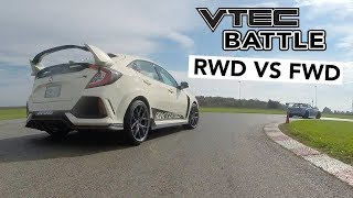 Civic Type R VS Honda S2000 Track Battle VTEC Edition