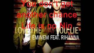 Love the way you lie - Enimem ft  Rihanna