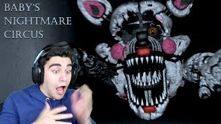 NIGHTMARE FUNTIME FOXY WAS IN THE VENTS WITH ME! - Baby's Nightmare Circus (Classic - Nights 1 & 2)