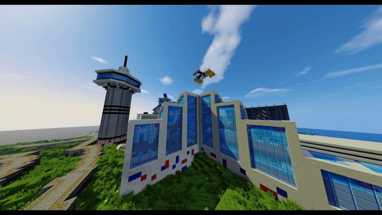Minecraft Nasa Space Center Space Shuttle Youtube
