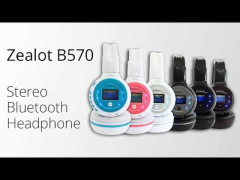 Unboxing Zealot B570 Wireless Bluetooth Headphone with LED Display & FM Radio TF Slot