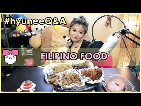FILIPINO FOOD!! (Adobo Chicken, Afritada, Sisig, Pancit Noodles, Limpiang) MUKBANG [먹방] | Q&A