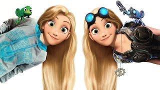 """Прикольные коллажи """"Рапунцель уже не та"""". Funny collages """"Rapunzel is not the same."""""""