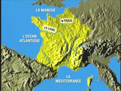 Geography Of France YouTube - France geographical map