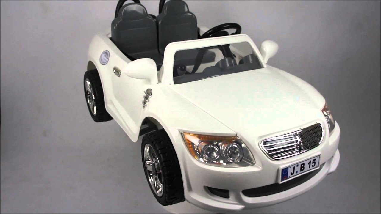 storm 12v 2 seater white coupe kids electric ride on car 360 degree youtube