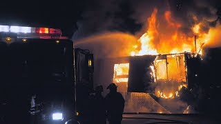 EARLY VIDEO: Firefighters battle major blaze at apartment complex in Pennsylvania