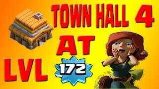 Clash Of Clans LVL 172 Town Hall 4(TH4) I Highest LVL Town HAll 4