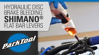 How to Bleed Hydraulic Brakes - Shimano® Flat Bar Levers