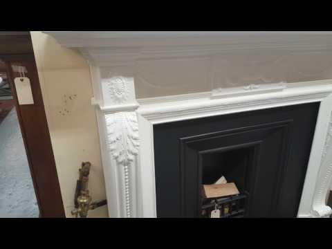 Antique Carved Wooden Mantel - Fully Restored
