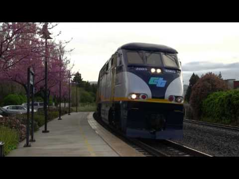 Spring in Fremont: Union Pacific, Amtrak, ACE, and CalTrain