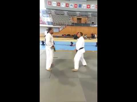 démonstration jujitsu de la nuit des arts martiaux au palais d'el manzah