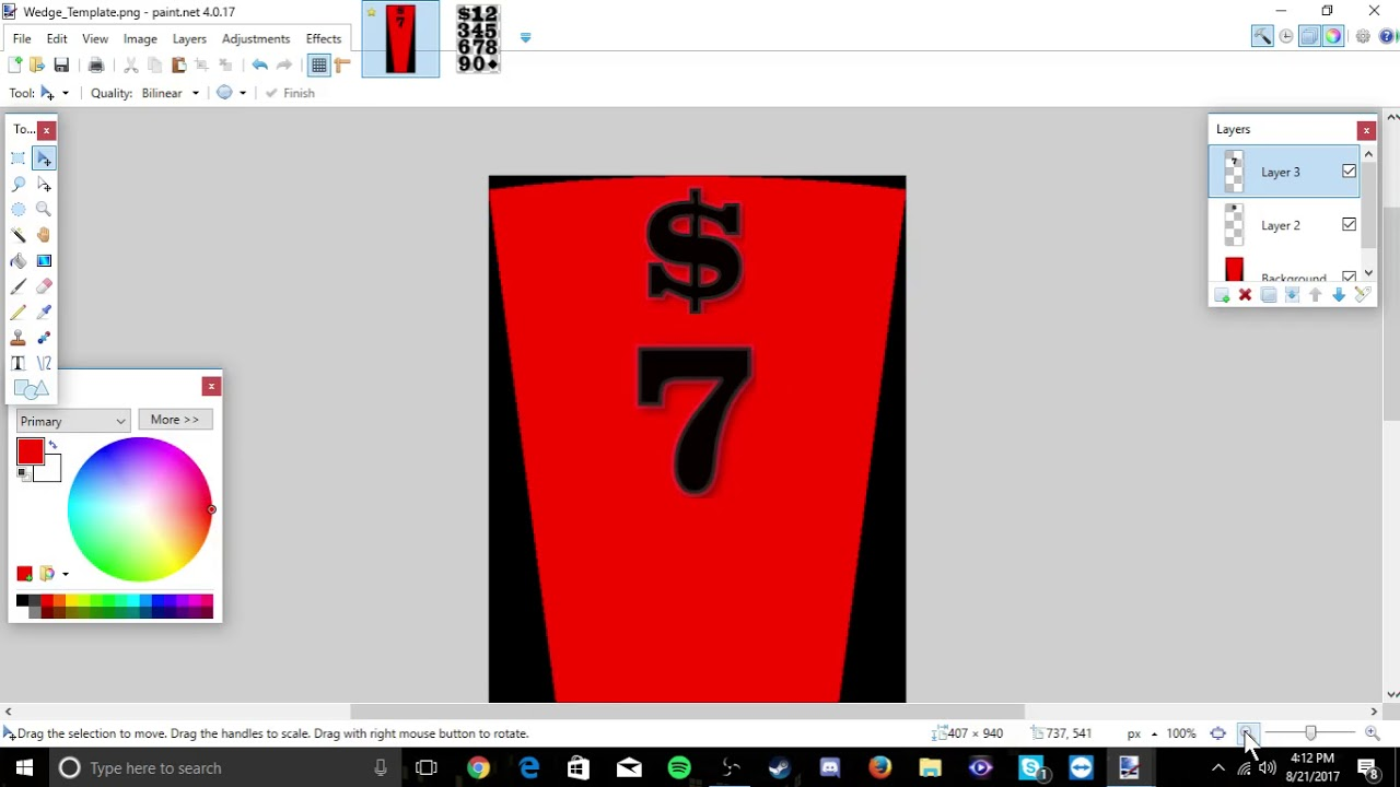 tutorial: how to make your own wheel of fortune dollar wedges, Powerpoint templates