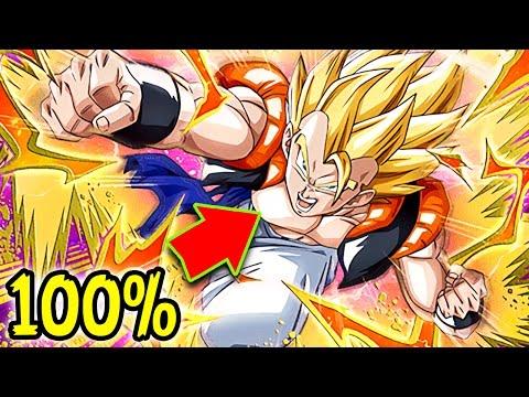 THE BEST FUSION CARD! 100% HIDDEN POTENTIAL UNLOCKED SUPER GOGETA! DBZ Dokkan Battle!