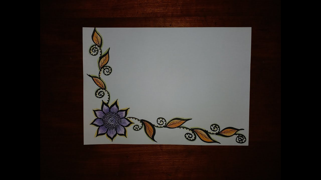 Very simple easy decorative border design for project file 《150》