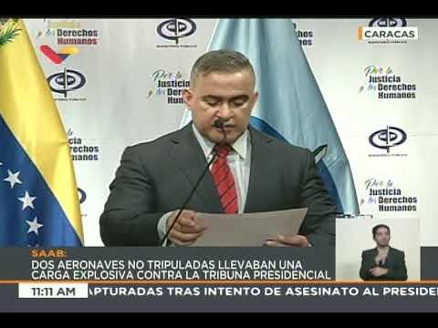 Fiscal Tarek William Saab, rueda de prensa el 6 agosto 2018 sobre atentado contra Maduro