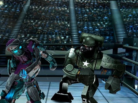 REAL STEEL WRB-SARGE vs ATOM & SIX SHOOTER, BLUEBOT, TACKLE (ЖИВАЯ СТАЛЬ)