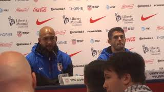 USMNT Press Conference Tim Howard and Christian Pulisic part 1 at NY 8/29/2017