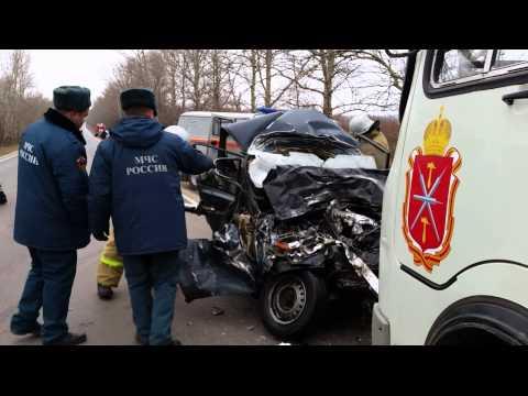 Крупное ДТП в Киреевском районе с участием пассажирского автобуса
