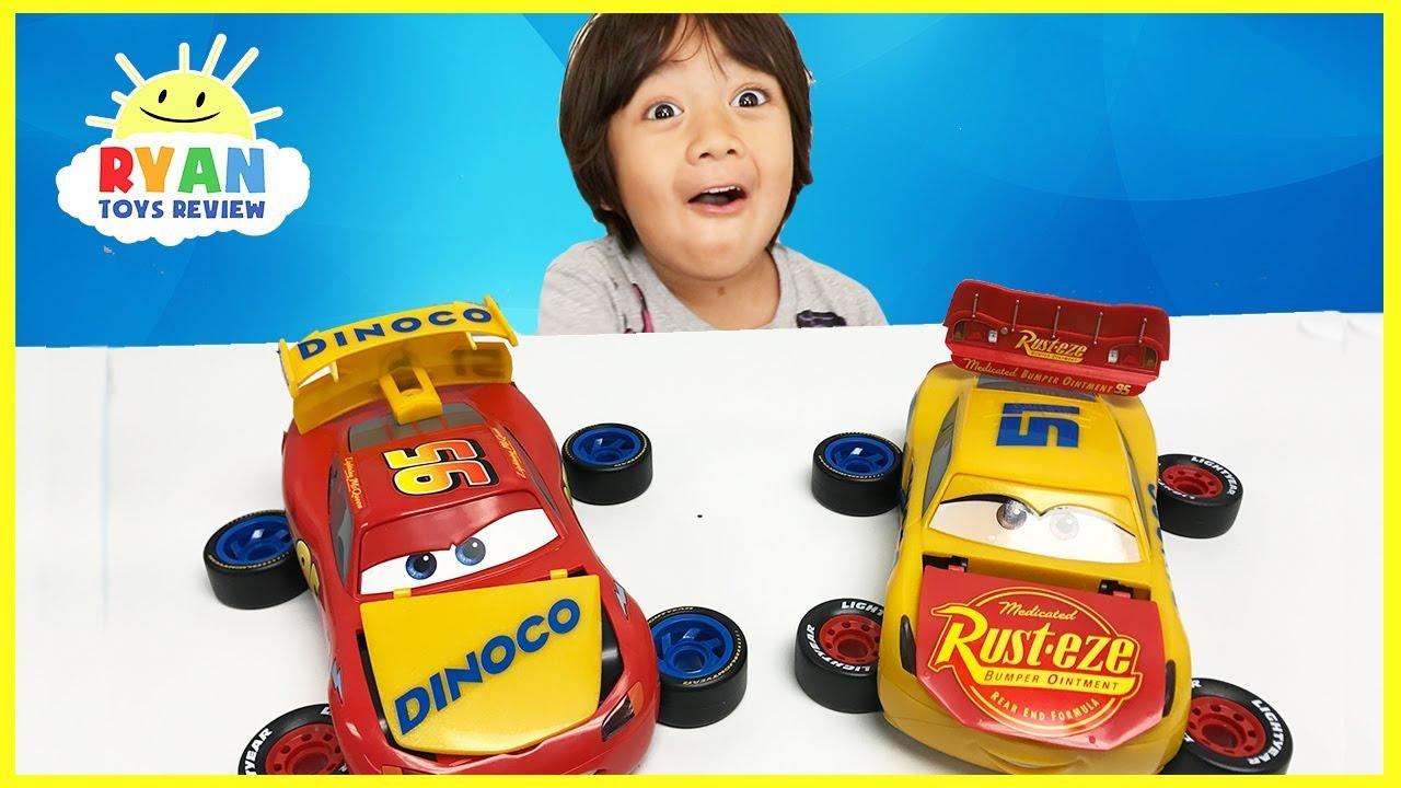 Disney Cars Toys Youtube: Disney Cars 3 Lightning McQueen And Cruz Ramirez Mix And