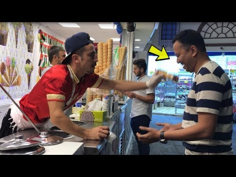 First man who defeat the turkish ice cream at Global Village Dubai 2017-2018