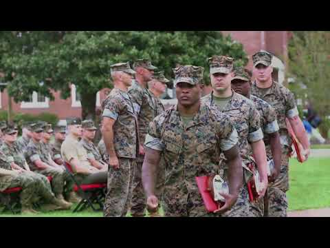 2nd Marine Division Morning Colors Awards Ceremony