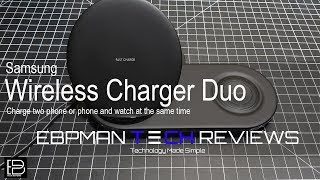 Samsung Wireless Charger Duo for the Samsung Galaxy Note 9 & Samsung Galaxy Watch
