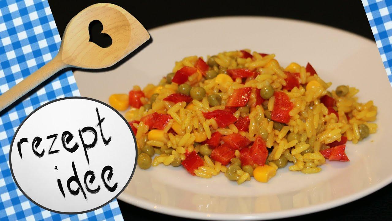 Reissalat vegetarisch - mit Curry und Gemüse | Rezeptidee