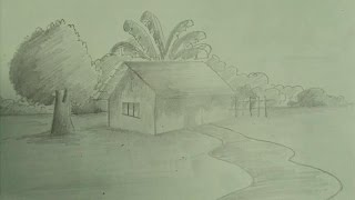 How to Draw a Scenery in Pencil Sketch