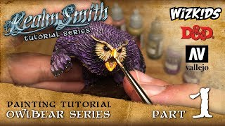 How to Paint a D&D Owlbear by Wizkids Pt.1: Prep & Painting