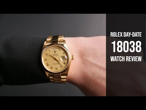 Rolex President Gold Day-Date 18038 Watch Review | Bob's Watches