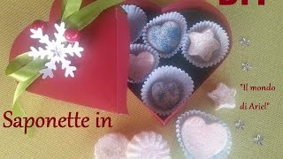 DIY SAPONETTE IN 5 MINUTI,IDEA REGALO FAI DA TE,BIG SHOT
