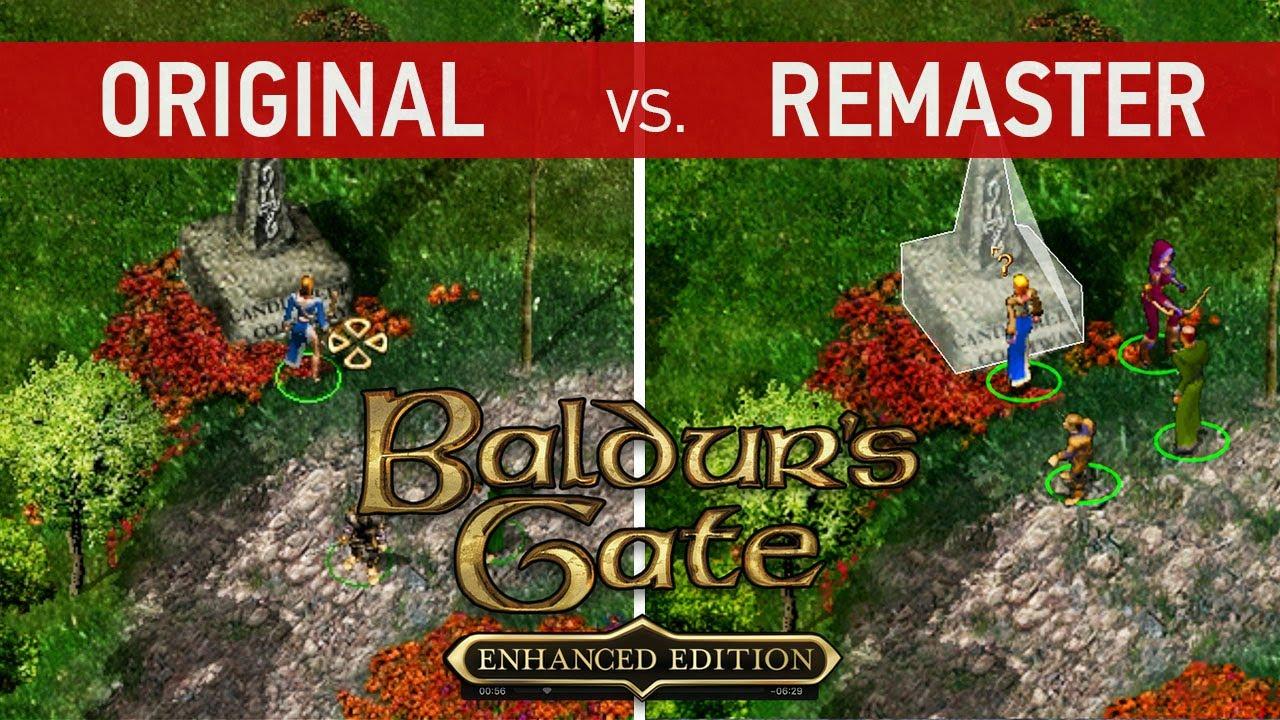 Baldur S Gate Enhanced Edition Comparison Original Vs Remaster Console