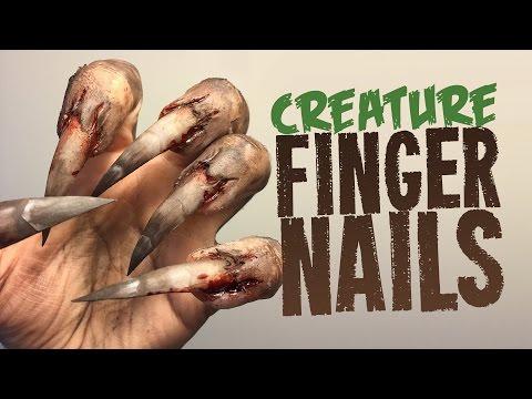 Creature Nails SFX makeup tutorial