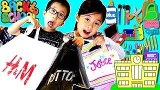 夏休みもあとわずか😝 新学期!学校にもどるよ 🏫 お買い物  コーディネート チャレンジ Back to School Shopping Challenge thumbnail