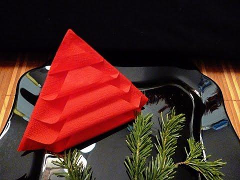 DIY : Fold napkins like Christmas trees by Søstrene Grene - YouTube | 360x480