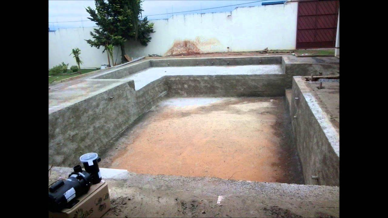 Construindo uma piscina de concreto armado passo a passo - Cemento para piscinas ...